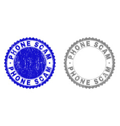 grunge phone scam scratched stamps vector image