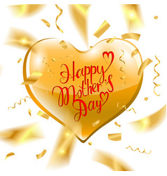 happy mothers day text vector image