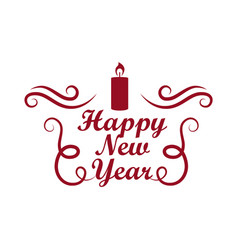 Happy new year placard on vector