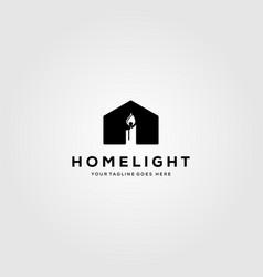 House candle logo design vector