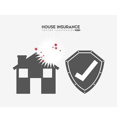 House insurance design vector