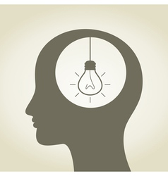 Idea in a head vector image