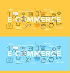 internet shops and discounts vector image
