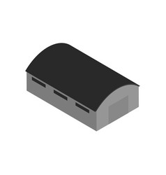 isometric icon with warehouse building vector image