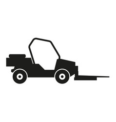loader car sign black icon vector image