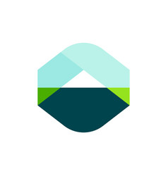 logo template or icon of landscape with mountain vector image