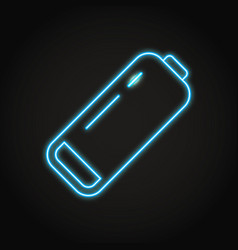 Low battery icon in neon line style vector