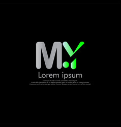 m y my initial abstract logo concept vector image