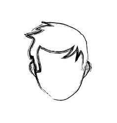 male faceless head vector image