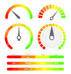 minimalist score indicators with color levels vector image