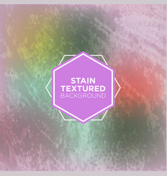 minty grey grunge background with stained texture vector image