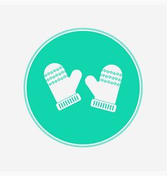 mittens icon sign symbol vector image
