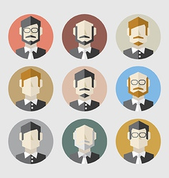 Modern Flat Design Men Icon Set vector image