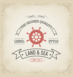 Nautical yacht logo concept vector
