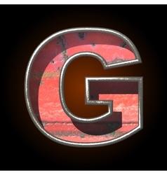 Old metal letter g vector