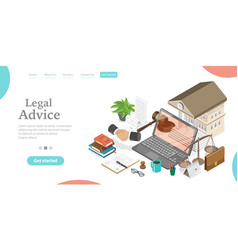 online legal advice law and justice digital vector image