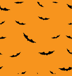 orange halloween wrapping paper design vector image