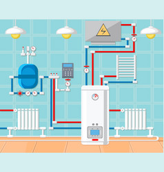 Plumbing in house concept vector