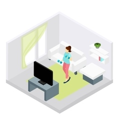 Pregnancy Fitness vector image