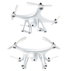 realistic drone quadcopter set vector image