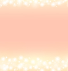 Romantic abstract sparkling frame background vector