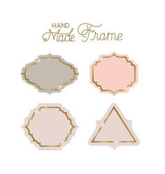 Set of victorian hand made frames vector