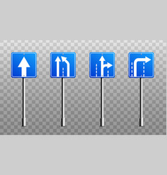 sign boards or signage with arrows realistic vector image
