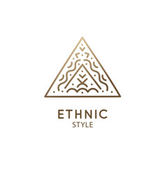 Simple triangle logo abstract ethnic vector
