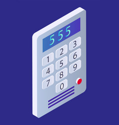 Smart home device intercom or security system vector