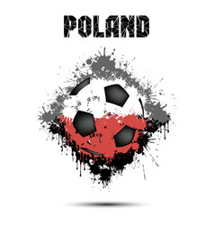 soccer ball in the color of poland vector image