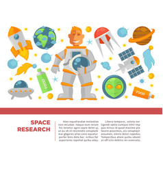 space research and exploration poster vector image