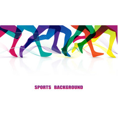 sports people running marathonbackground vector image