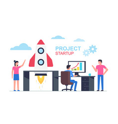 successful launch startup vector image