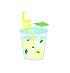 summer tropical cocktail or lemonade cartoon vector image