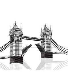 Tower Bridge London hand drawn vector