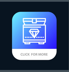 treasure chest gaming mobile app button android vector image