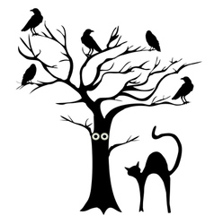 tree crows vector image