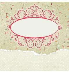 Valentine copyspace card vector image