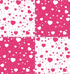Valentine Day and colorful Heart on white and pink vector image