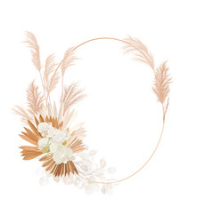 Wedding dried lunaria orchid pampas grass floral vector
