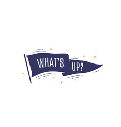 whats up flag grahpic old vintage trendy flag vector image