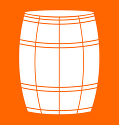 wine or beer barrels white icon vector image