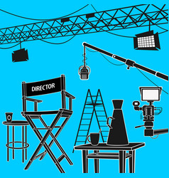 workplace cinema production vector image