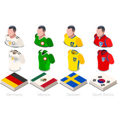 World cup group f jersey set vector