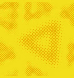 yellow seamless halftone background vector image