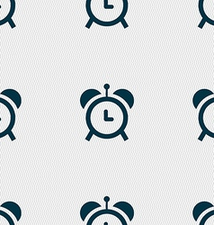 alarm clock icon sign Seamless pattern with vector image vector image