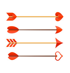 Cupids arrows vector image