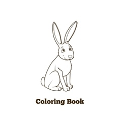 Forest animal hare cartoon coloring book vector image