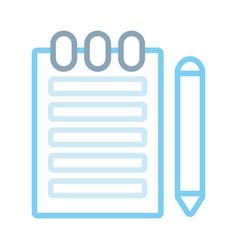 notebook ilustratio vector image
