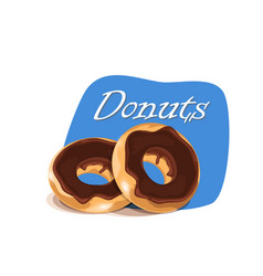 Poster template with donuts vector